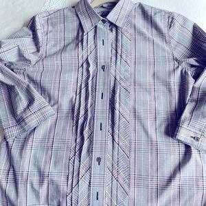 Bundle 2/20$ or 3/30$ Foxcroft Size 8 No-Iron 🖤🤍Cotton Dress Shirt